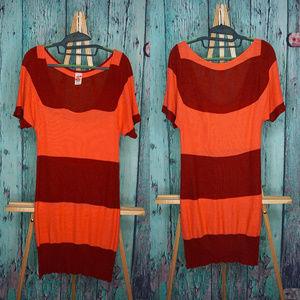 Free People scoop neck striped knit dress